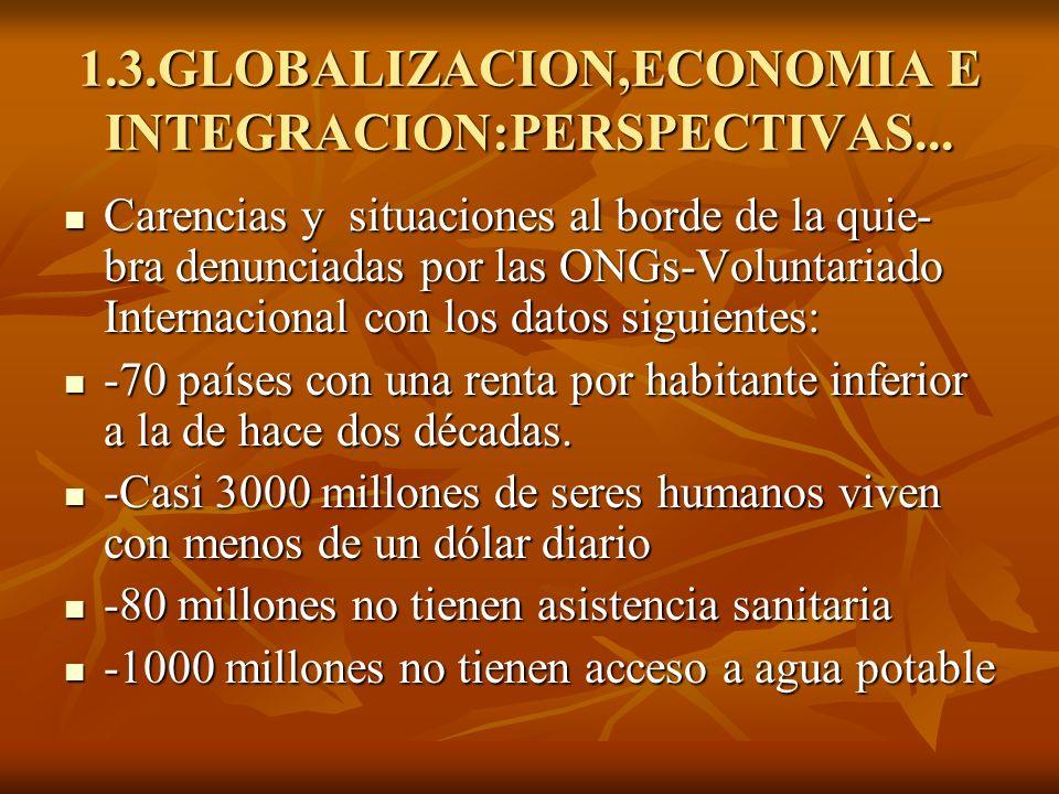 1.3.GLOBALIZACION,ECONOMIA E INTEGRACION:PERSPECTIVAS...
