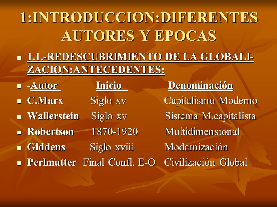 1:INTRODUCCION:DIFERENTES AUTORES Y EPOCAS