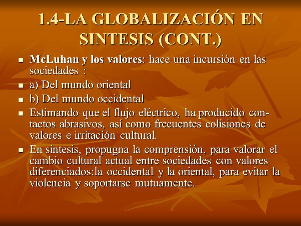 1.4-LA GLOBALIZACIÓN EN SINTESIS (CONT.)