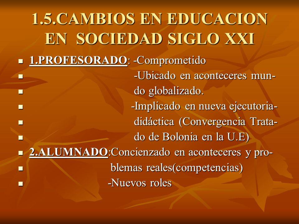 1.5.CAMBIOS EN EDUCACION EN SOCIEDAD SIGLO XXI