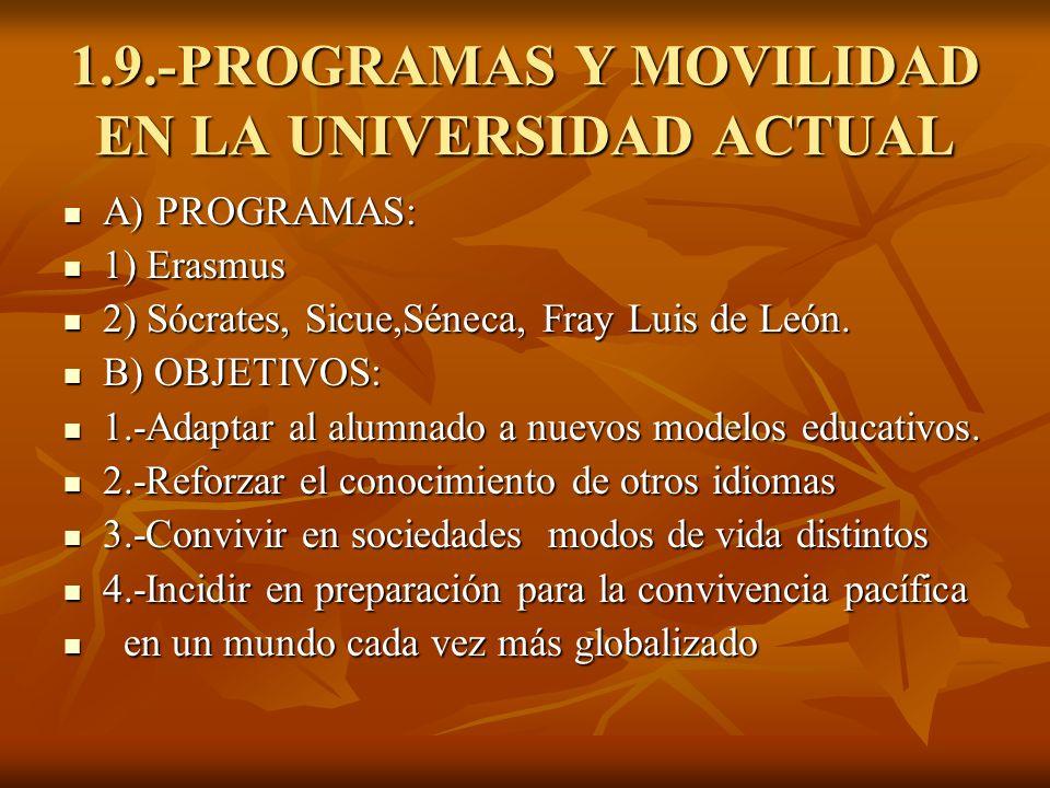1.9.-PROGRAMAS Y MOVILIDAD EN LA UNIVERSIDAD ACTUAL