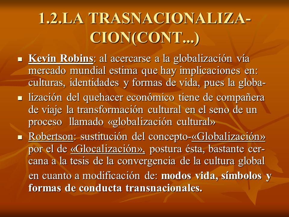 1.2.LA TRASNACIONALIZA- CION(CONT...)