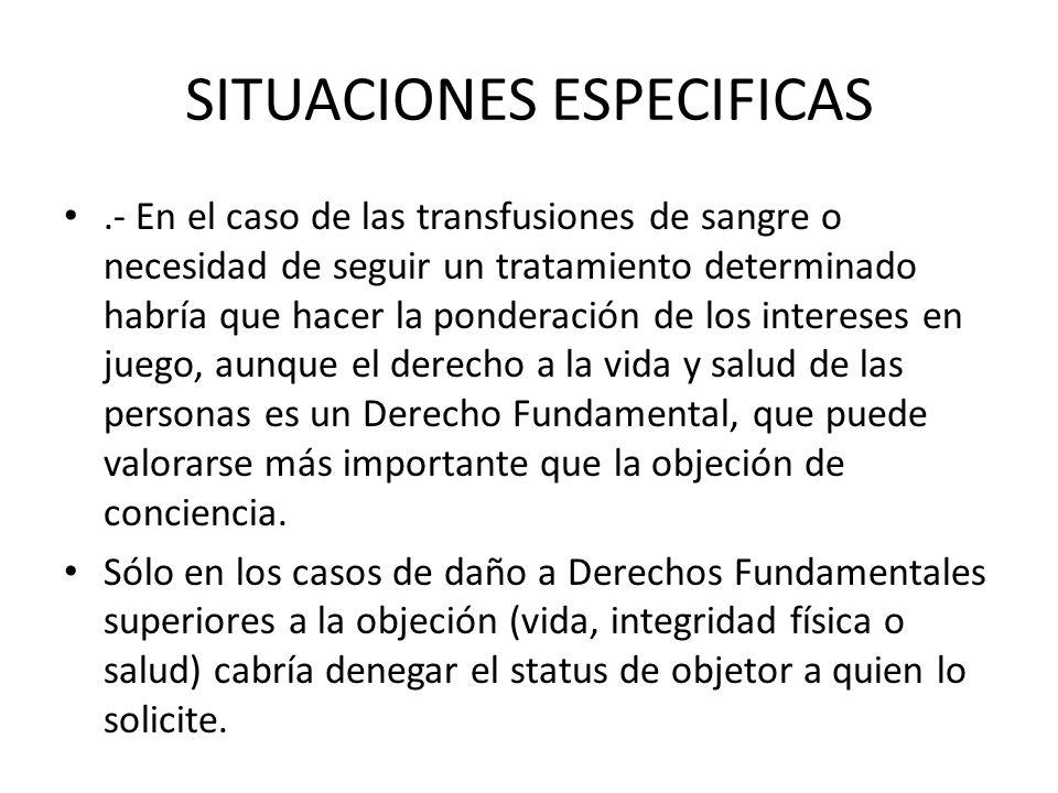 SITUACIONES ESPECIFICAS