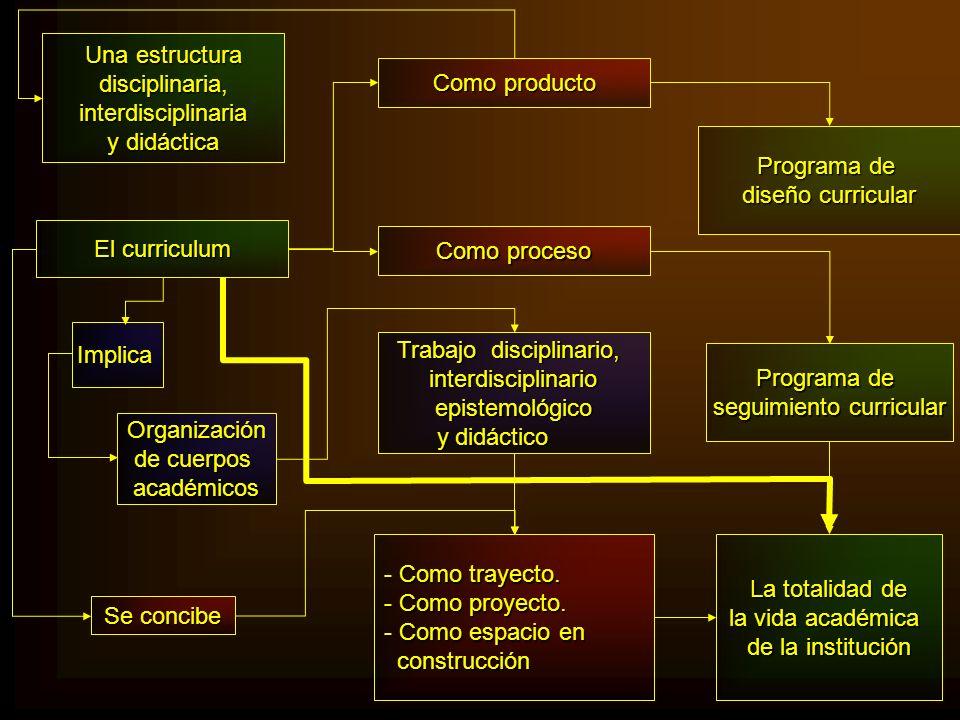 Trabajo disciplinario, interdisciplinario epistemológico y didáctico