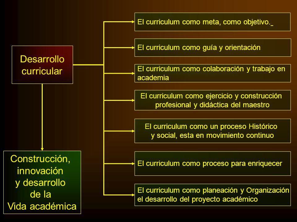 Desarrollo curricular Construcción, innovación y desarrollo de la