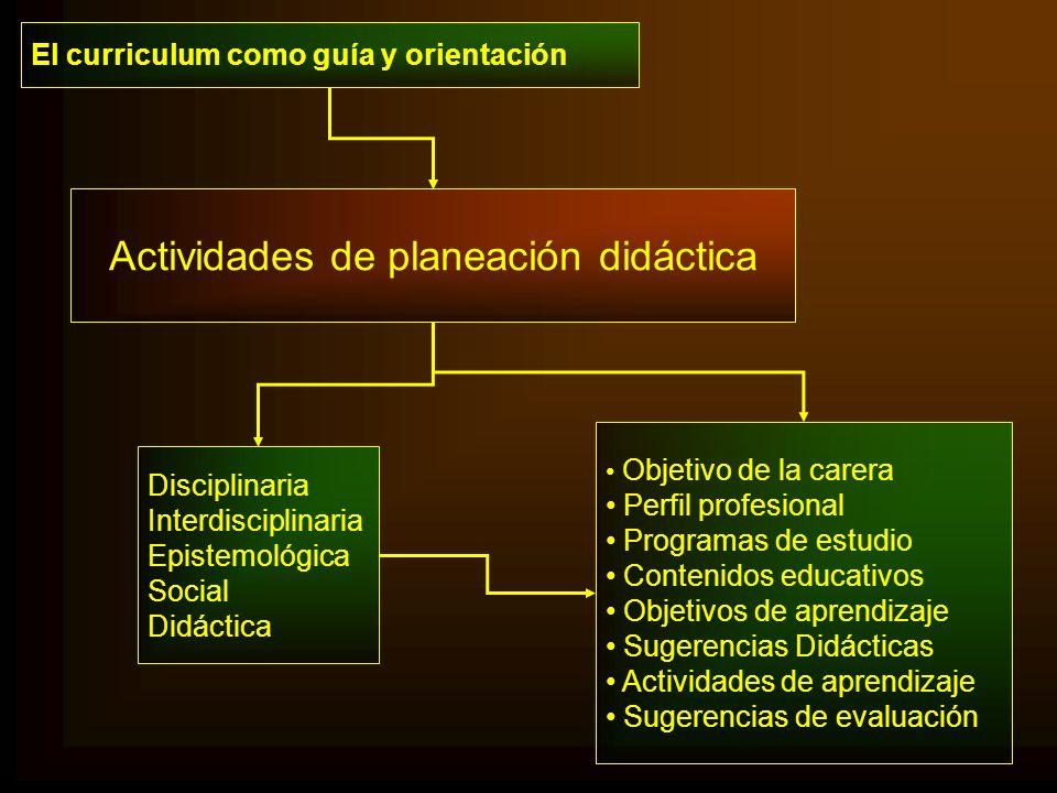 Actividades de planeación didáctica