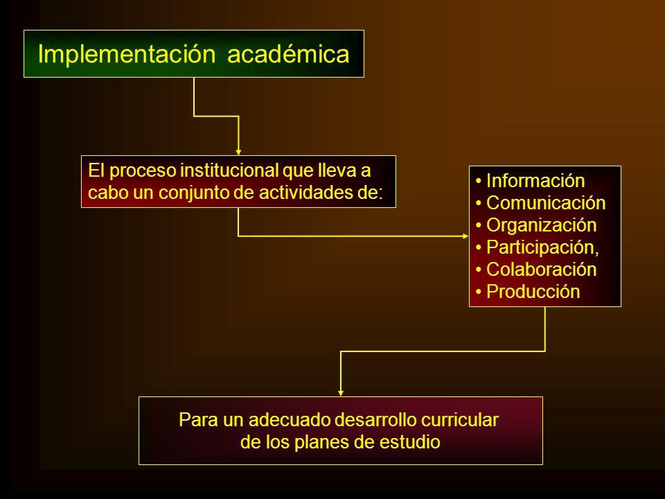 Implementación académica