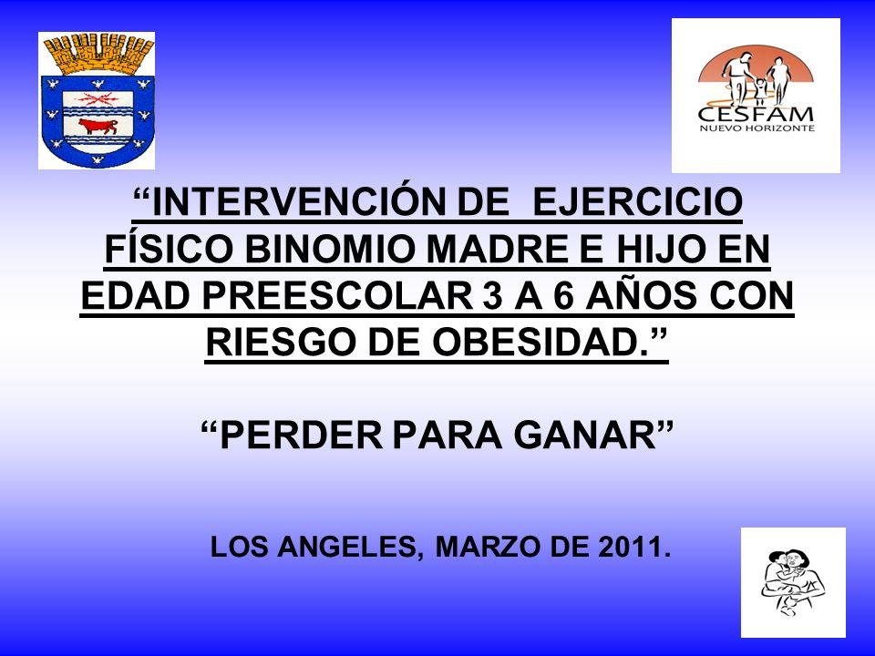 INTERVENCIÓN DE EJERCICIO FÍSICO BINOMIO MADRE E HIJO EN EDAD PREESCOLAR 3 A 6 AÑOS CON RIESGO DE OBESIDAD. PERDER PARA GANAR