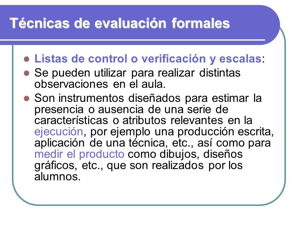 Técnicas de evaluación formales