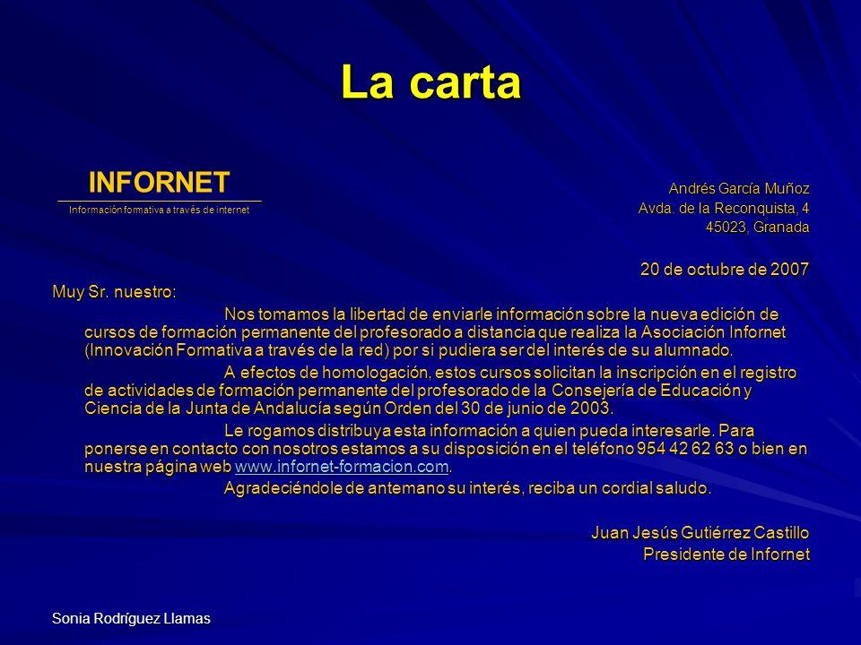 Información formativa a través de internet