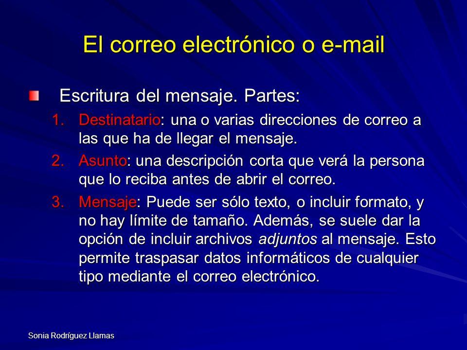 El correo electrónico o e-mail