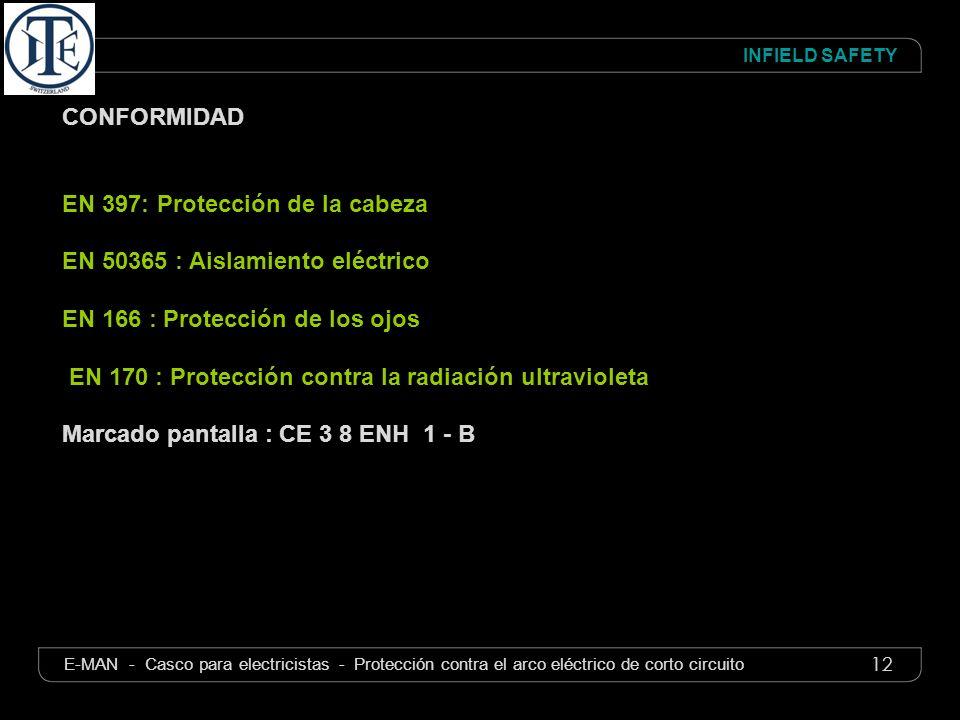 EN 397: Protección de la cabeza EN 50365 : Aislamiento eléctrico