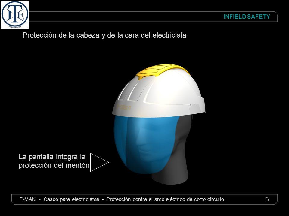 Protección de la cabeza y de la cara del electricista