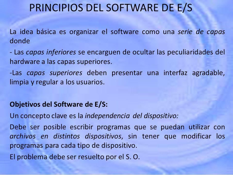PRINCIPIOS DEL SOFTWARE DE E/S