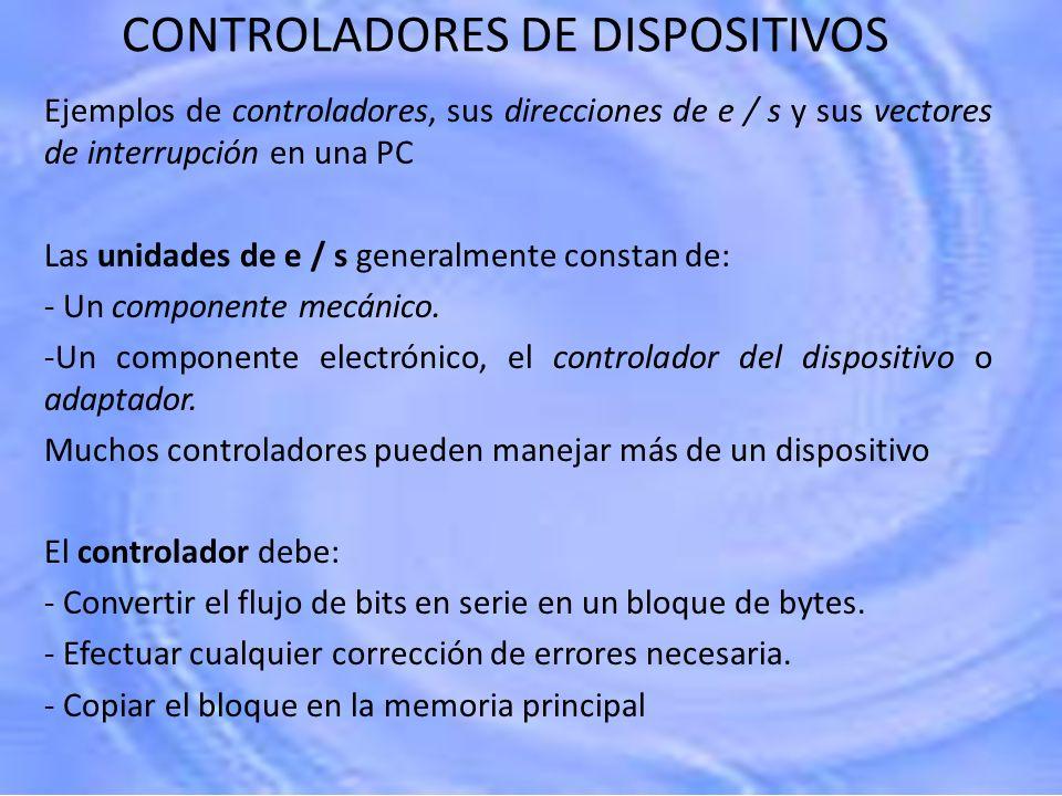 CONTROLADORES DE DISPOSITIVOS