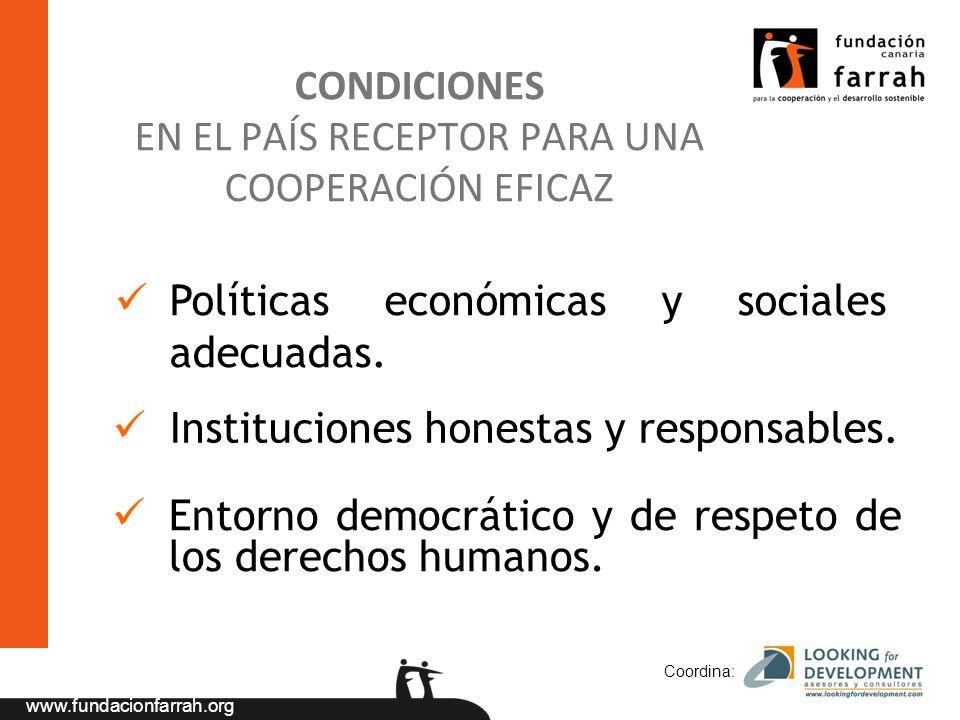 CONDICIONES EN EL PAÍS RECEPTOR PARA UNA COOPERACIÓN EFICAZ