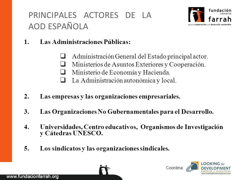 PRINCIPALES ACTORES DE LA AOD ESPAÑOLA