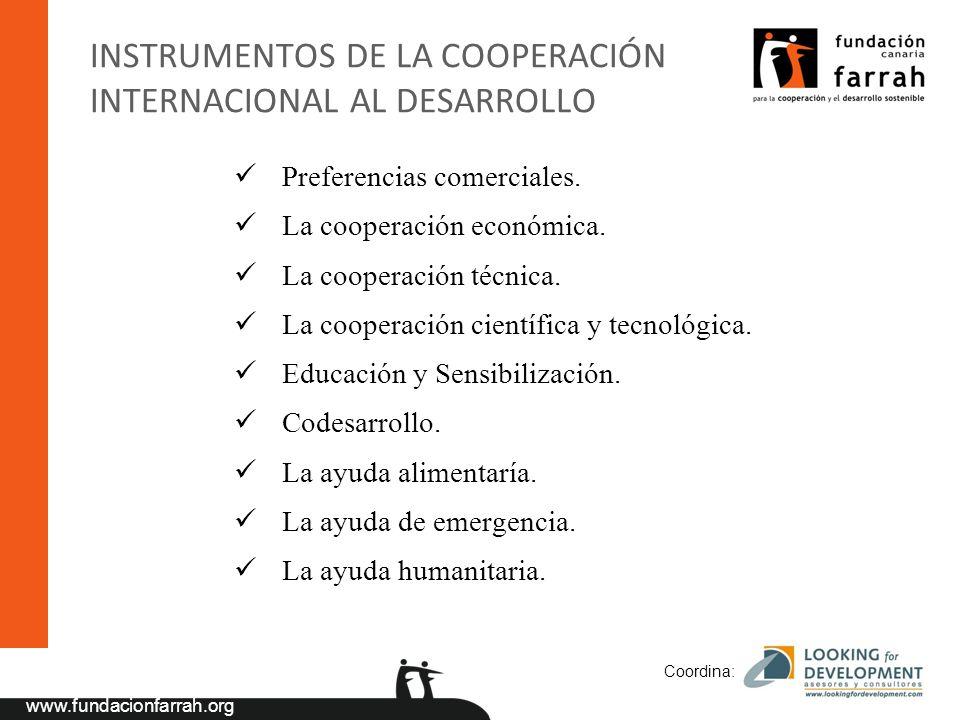 INSTRUMENTOS DE LA COOPERACIÓN INTERNACIONAL AL DESARROLLO
