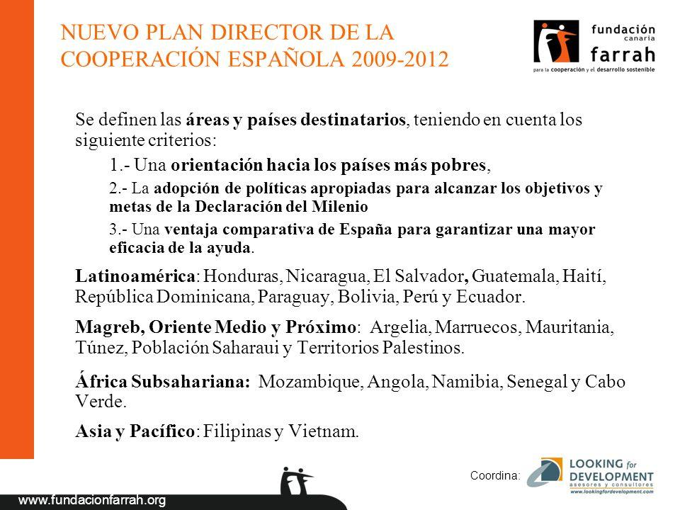 NUEVO PLAN DIRECTOR DE LA COOPERACIÓN ESPAÑOLA 2009-2012