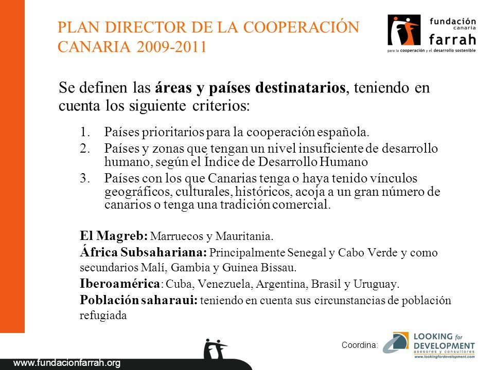 PLAN DIRECTOR DE LA COOPERACIÓN CANARIA 2009-2011