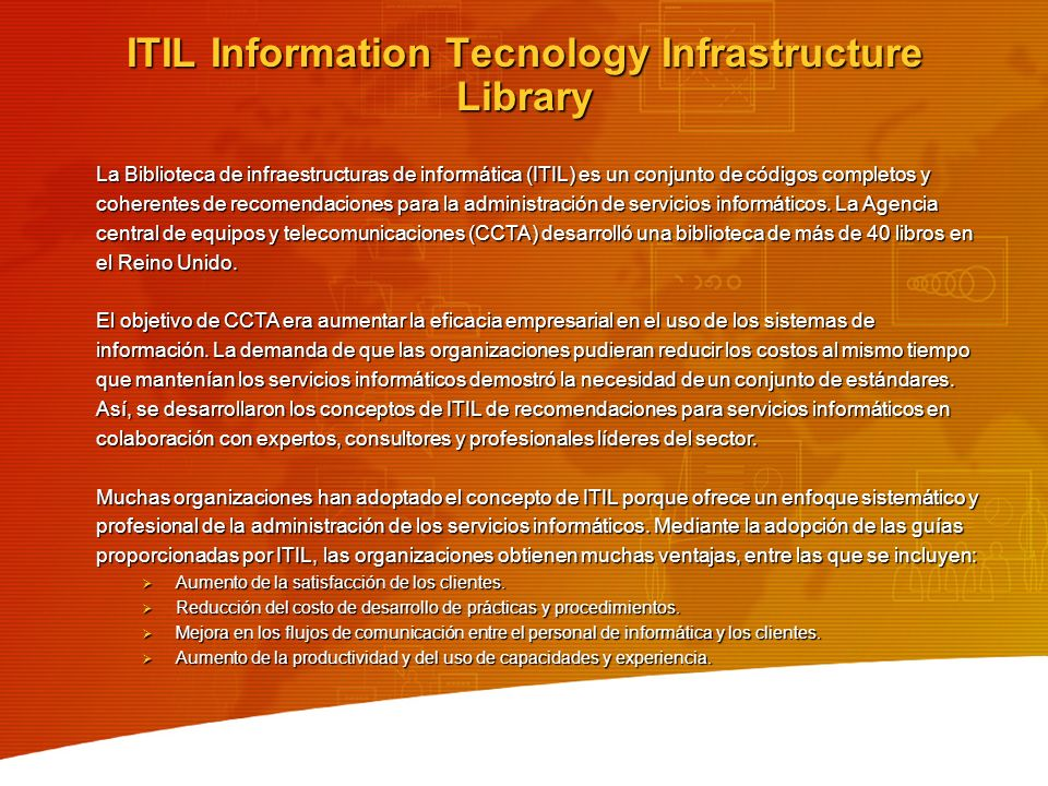 ITIL Information Tecnology Infrastructure Library