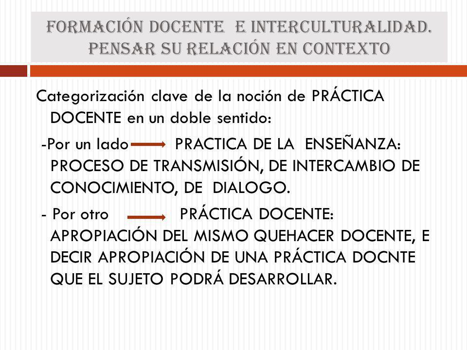 Formación docente e interculturalidad. Pensar su relación en contexto