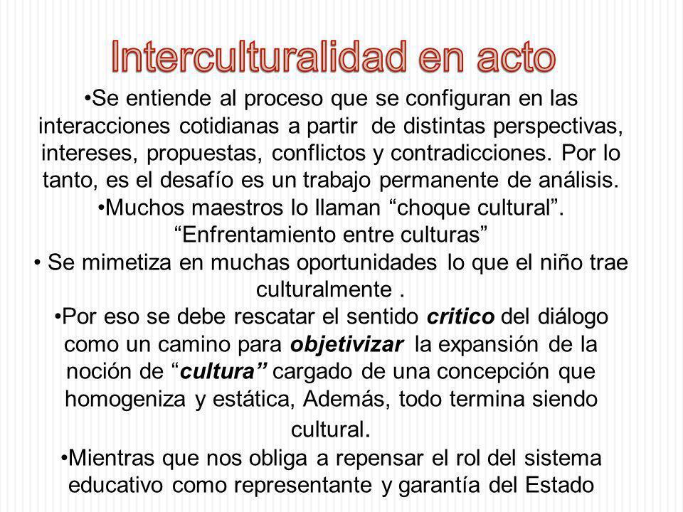 Interculturalidad en acto