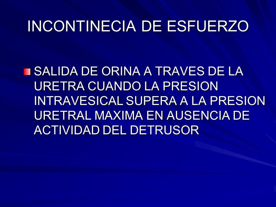 INCONTINECIA DE ESFUERZO