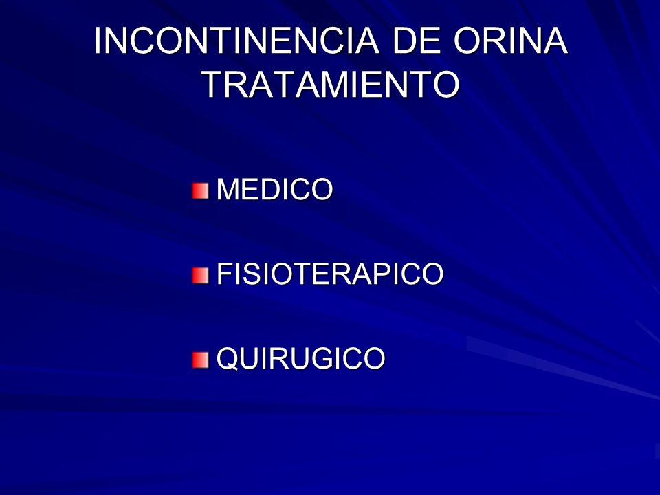 INCONTINENCIA DE ORINA TRATAMIENTO