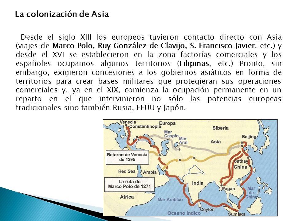 La colonización de Asia