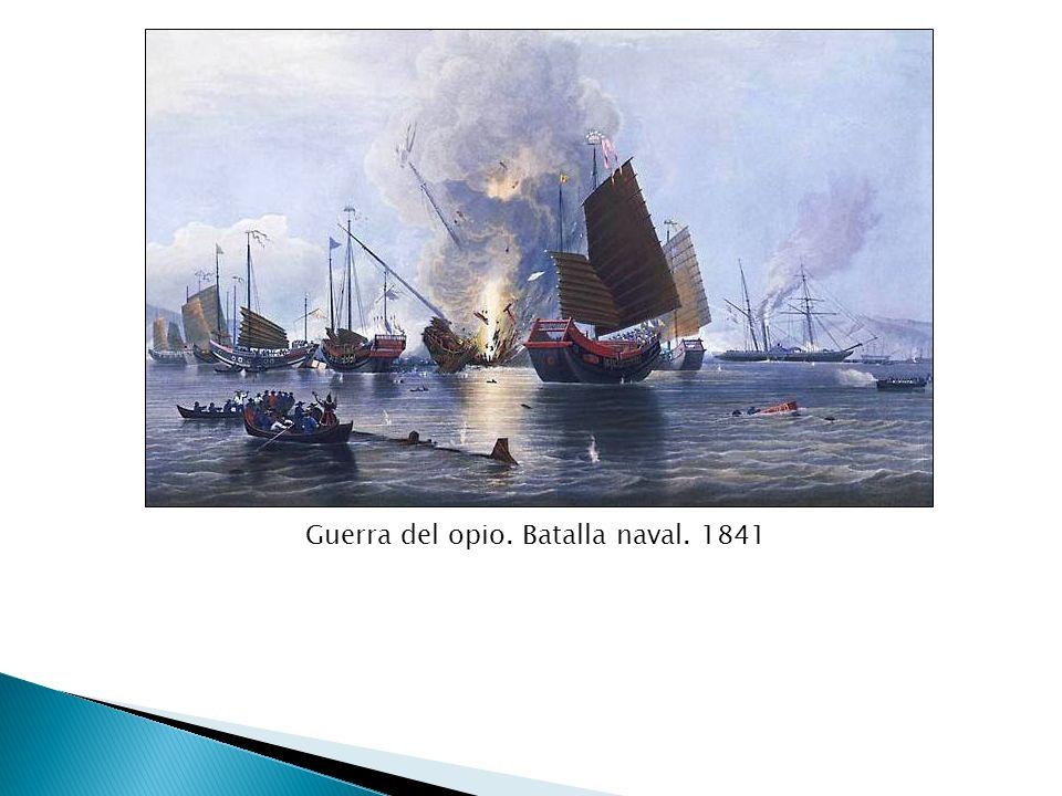 Guerra del opio. Batalla naval. 1841