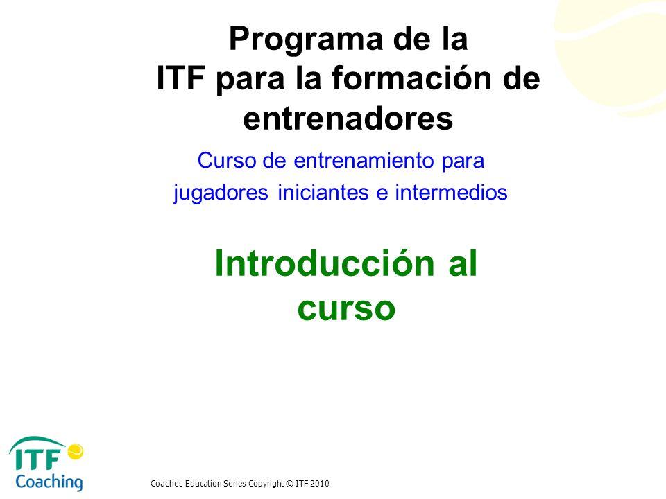 Curso de entrenamiento para jugadores iniciantes e intermedios
