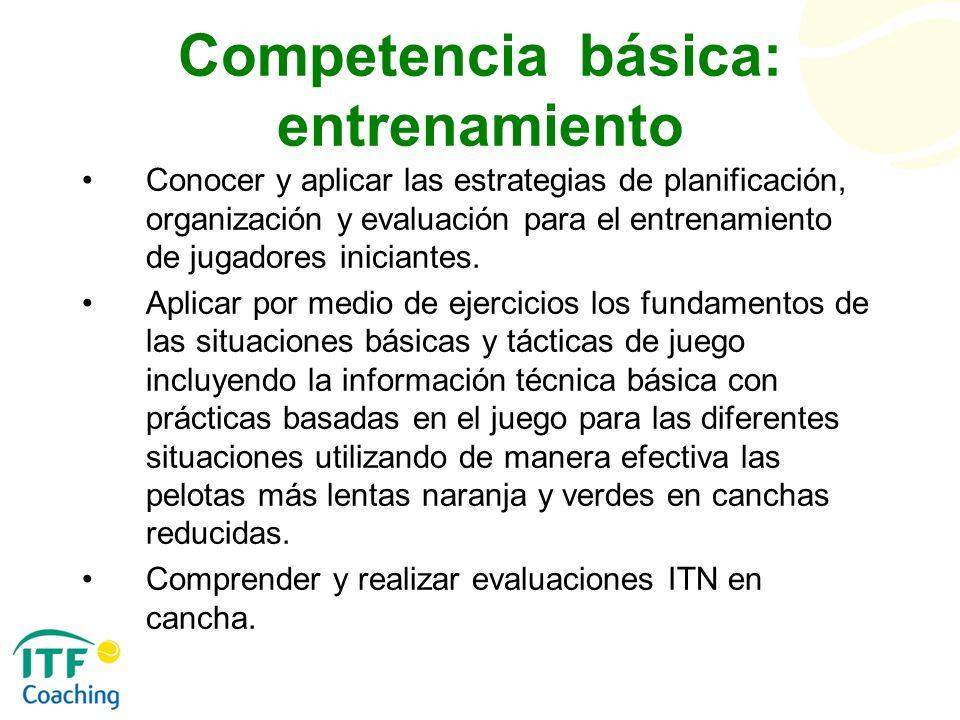 Competencia básica: entrenamiento