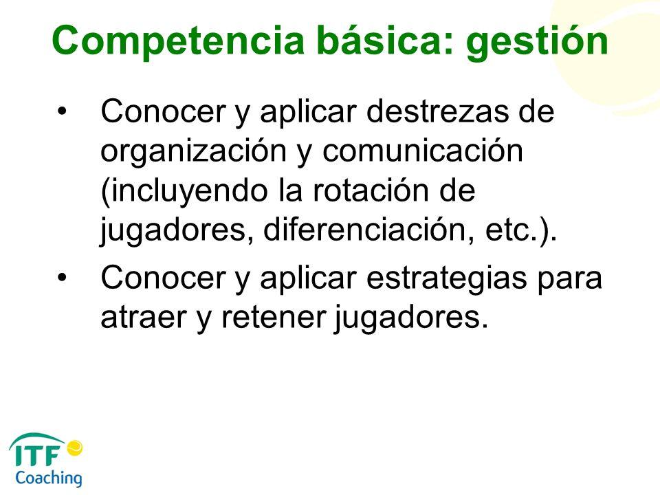 Competencia básica: gestión