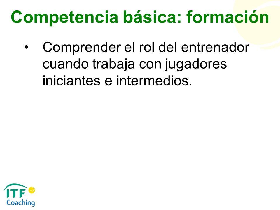 Competencia básica: formación