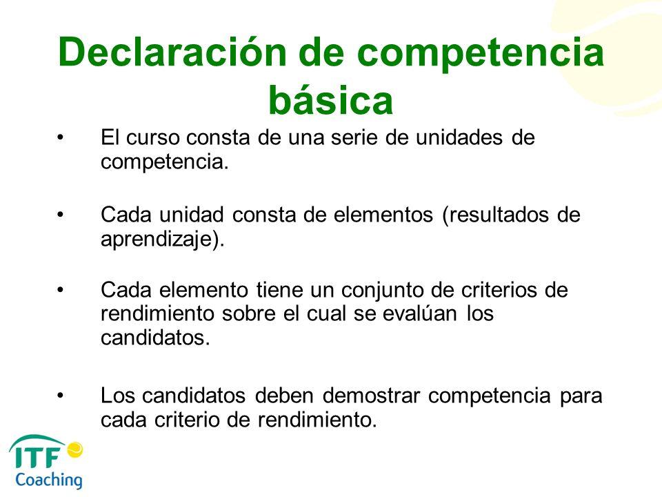 Declaración de competencia básica