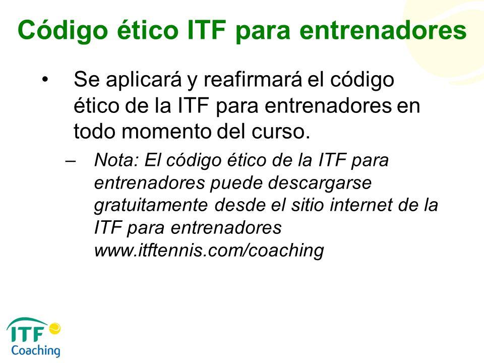 Código ético ITF para entrenadores