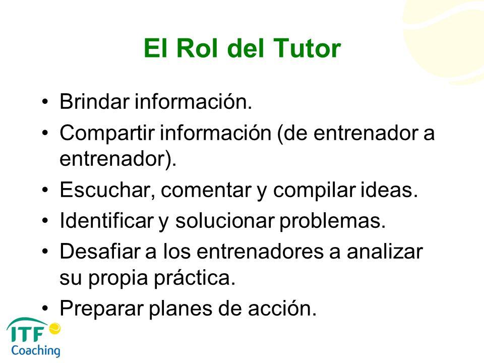 El Rol del Tutor Brindar información.