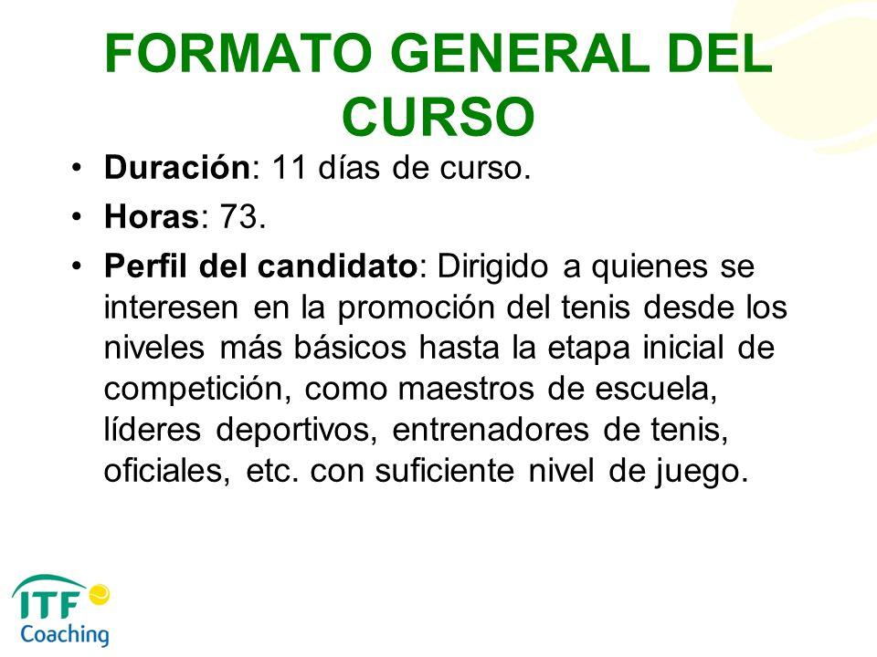 FORMATO GENERAL DEL CURSO
