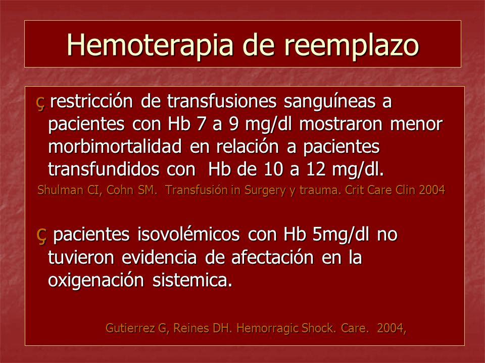 Hemoterapia de reemplazo