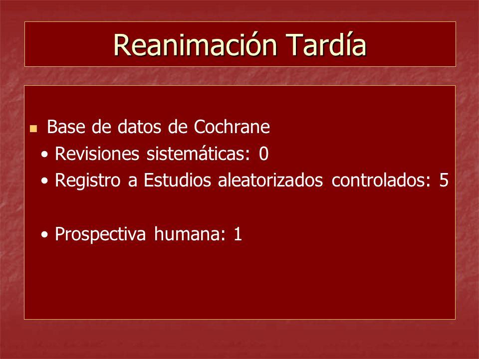 Reanimación Tardía Base de datos de Cochrane