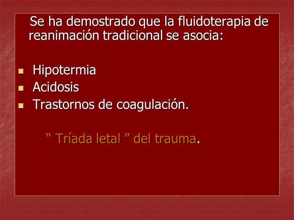 Se ha demostrado que la fluidoterapia de reanimación tradicional se asocia: