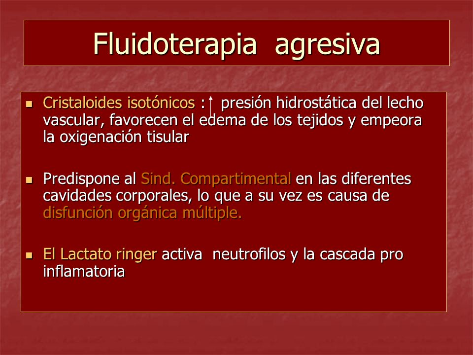 Fluidoterapia agresiva