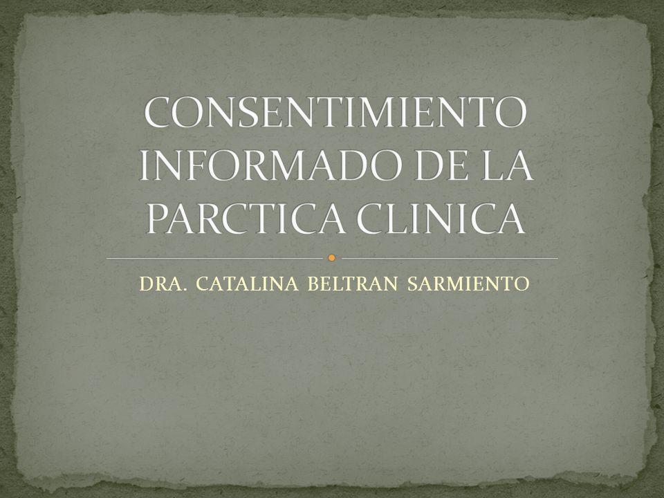 CONSENTIMIENTO INFORMADO DE LA PARCTICA CLINICA