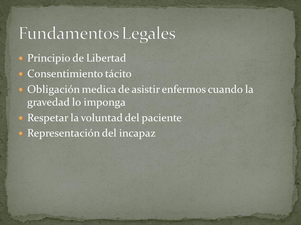 Fundamentos Legales Principio de Libertad Consentimiento tácito
