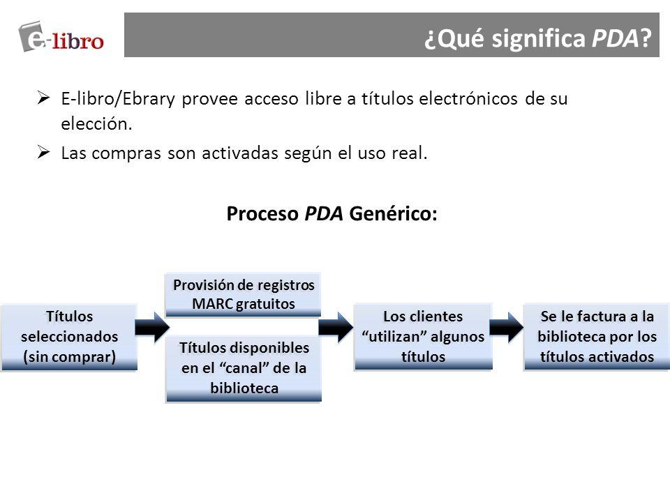 ¿Qué significa PDA Proceso PDA Genérico: