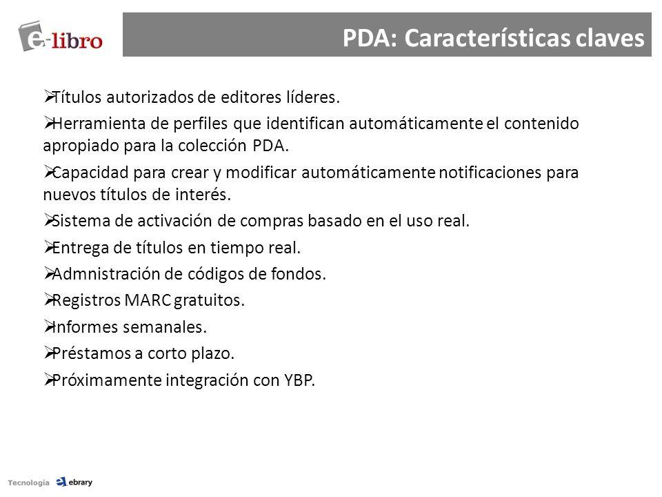 PDA: Características claves