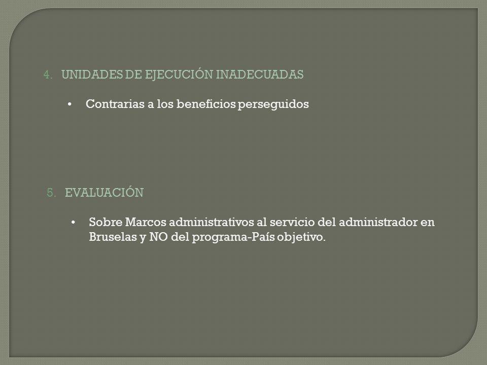 UNIDADES DE EJECUCIÓN INADECUADAS
