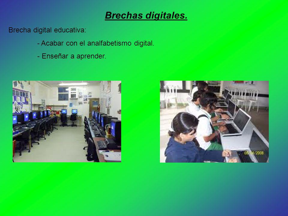 Brechas digitales. Brecha digital educativa: