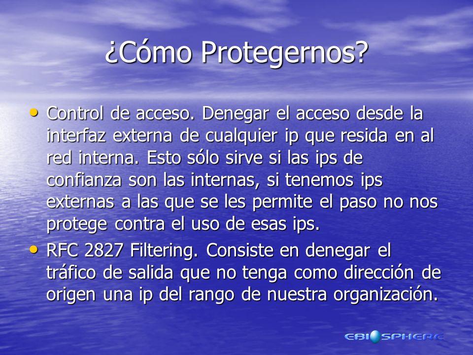 ¿Cómo Protegernos